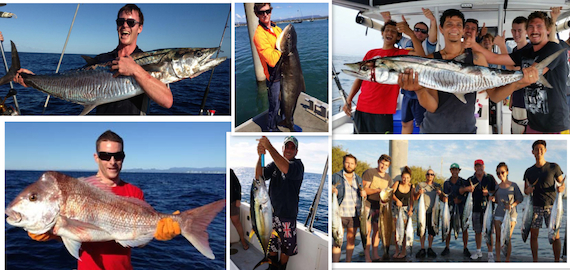 Half day Gold Coast fishing charter - only $90pp