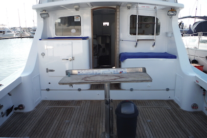 Our new bigger boat has plenty of room  and large rear deck