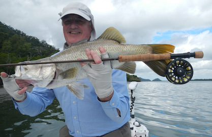 Catch Barramundi on fly with G&T Charters