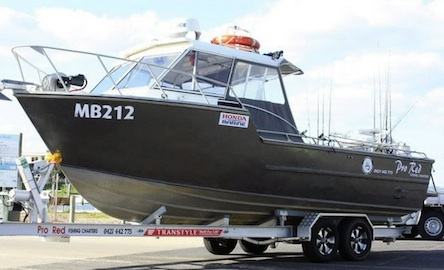 Our 25ft vessel takes up to 8 anglers
