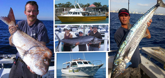 Half and full day Gold Coast Charters. Larger groups welcome