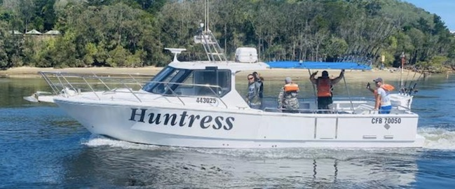 Arrow's 32ft boat the 'Huntress' perfect for up to 10 anglers